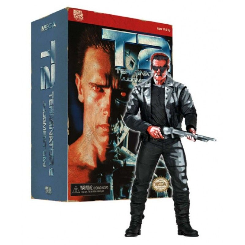 NECA TERMINATOR 2 T-800 VIDEO GAME VERSION ACTION FIGURE