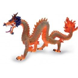 DRAGONS SERIES - RED CHINESE DRAGON ACTION FIGURE PLASTOY