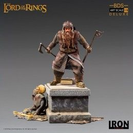 IRON STUDIOS THE LORD OF THE RINGS - GIMLI BDS ART SCALE 1/10 STATUE 21CM FIGURE
