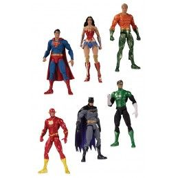 DC ESSENTIALS - JUSTICE LEAGUE 6-PACK ACTION FIGURE DC COLLECTIBLES