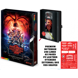 FACTORY ENTERTAINMENT STRANGER THINGS 2 - VHS A5 PREMIUM NOTEBOOK DIARIO
