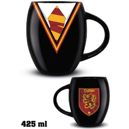 PYRAMID INTERNATIONAL HARRY POTTER - GRYFFINDOR UNIFORM GRIFONDORO OVAL MUG TAZZA IN CERAMICA