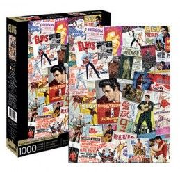 ELVIS PRESLEY ONE-SHEETS COLLAGE 1000 PIECES PEZZI JIGSAW PUZZLE AQUARIUS ENT