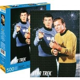 AQUARIUS ENT STAR TREK SPOCK AND KIRK PUZZLE 500 PEZZI PIECES 48X35CM