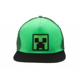 CAPPELLO BASEBALL CAP MINECRAFT CREEPER VERDE
