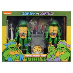 NECA TMNT TEENAGE MUTANT NINJA TURTLES S2 LEONARDO & DONATELLO 2-PACK ACTION FIGURE