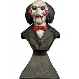 SAW L'ENIGMISTA BILLY PUPPET BUST STATUE 15CM RESIN FIGURE TRICK OR TREAT STUDIOS