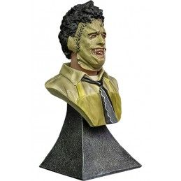 TRICK OR TREAT STUDIOS LEATHERFACE BUST STATUE 15CM RESIN FIGURE