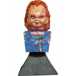 TRICK OR TREAT STUDIOS BRIDE OF CHUCKY - CHUCKY BUST STATUE 15CM RESIN FIGURE