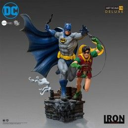IRON STUDIOS BATMAN AND ROBIN BY IVAN REIS ART SCALE 1/10 DELUXE STATUE 25CM RESIN FIGURE