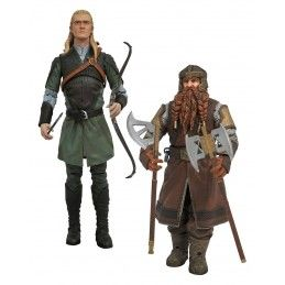 LORD OF THE RINGS SELECT - LEGOLAS AND GIMLI 2-PACK ACTION FIGURE DIAMOND SELECT
