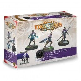 DRAKERYS MINIATURE BOARDGAME - AVAREN ELVES ELITES UNIT BOX FIGURE SET DO NOT PANIC GAMES