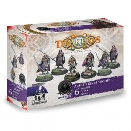 DO NOT PANIC GAMES DRAKERYS MINIATURE BOARDGAME - AVAREN ELVES ELITES BOWMEN / CROWS / SCOUTS FIGURE SET