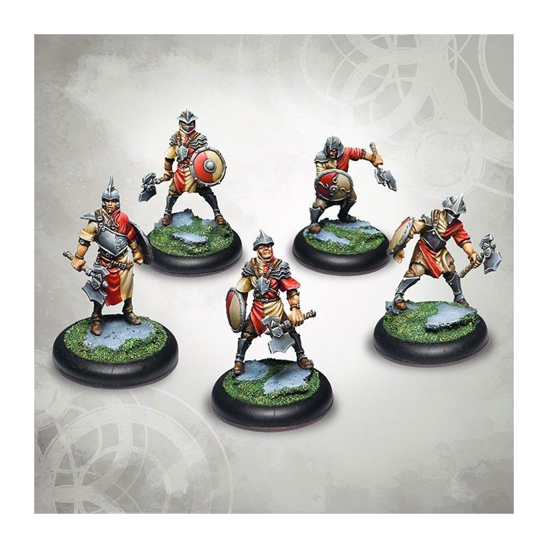DO NOT PANIC GAMES DRAKERYS MINIATURE BOARDGAME - IROSIA PALADINATE TROOPS BOWMEN / CONSCRIPTS / HALBERDERS FIGURE SET