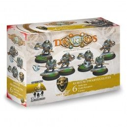 DRAKERYS MINIATURE BOARDGAME - AURIUM DWARVES ELITES LICTORS / INFERNOS / GOLD KEEPERS FIGURE SET DO NOT PANIC GAMES