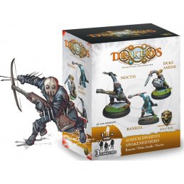 DO NOT PANIC GAMES DRAKERYS MINIATURE BOARDGAME - AURIUM DWARVES AWAKENED HERO BANRIM / DUKE AMDIR / NOCTIS FIGURE SET