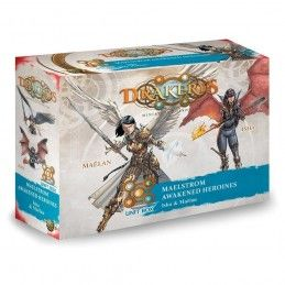 DRAKERYS MINIATURE BOARDGAME - MAELSTROM AWAKENED HEROINES: ISHA AND MAELAN FIGURE SET DO NOT PANIC GAMES