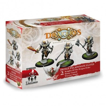 DRAKERYS MINIATURE BOARDGAME - IROSIA PALADINATE ELITES KNIGHTS OF THE DRAGON ORDER / HONOR GUARDS / WARRIOR–MAGES FIGURE SET