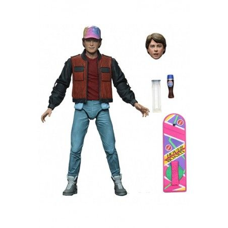 BACK TO THE FUTURE - RITORNO AL FUTURO 2 - ULTIMATE MARTY MCFLY WITH HOVERBOARD ACTION FIGURE