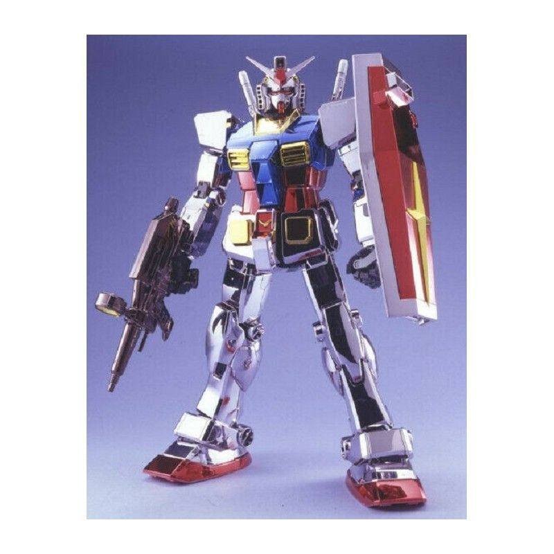 BANDAI PERFECT GRADE PG GUNDAM RX-78-2 CHROME PLATED 1/60 MODEL KIT ACTION FIGURE