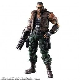FINAL FANTASY 7 REMAKE - BARRET WALLACE 28CM PLAY ARTS KAI ACTION FIGURE SQUARE ENIX