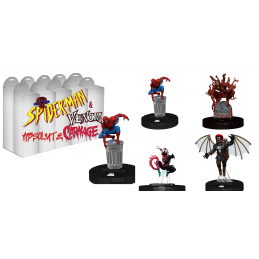 WIZKIDS MARVEL HEROCLIX SPIDER-MAN AND VENOM ABSOLUTE CARNAGE BOOSTER BRICK GIOCO DA TAVOLO