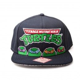 CAPPELLO BASEBALL CAP TEENAGE MUTANT NINJA TURTLES LOGO FACES