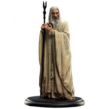 LORD OF THE RINGS SARUMAN THE WHITE 19CM STATUE FIGURE