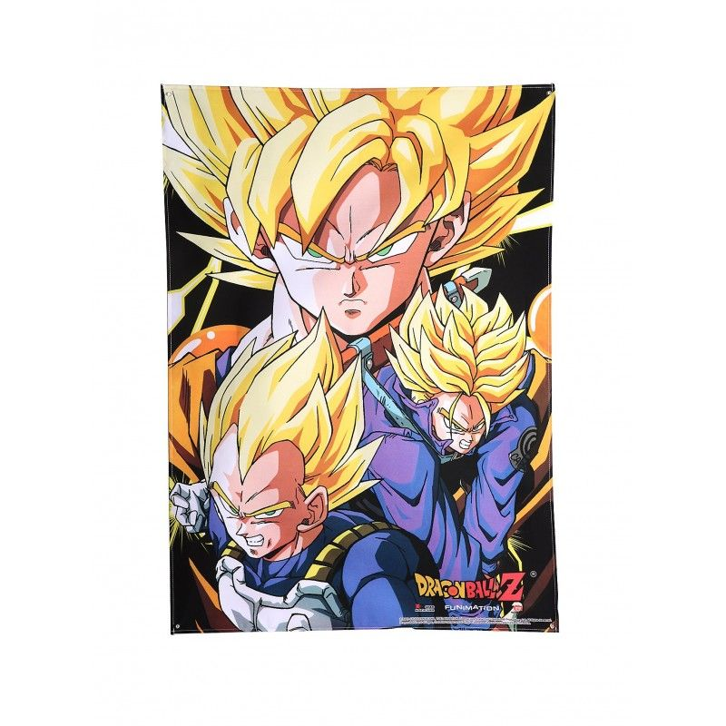 DRAGON BALL POSTER WALL SCROLL GOKU VEGETA TRUNKS 84 X 112 CM