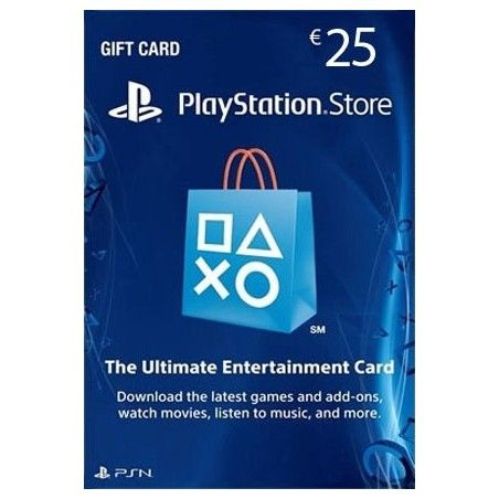 SONY PLAYSTATION NETWORK CARD 25 EURO DIGITAL DELIVERY