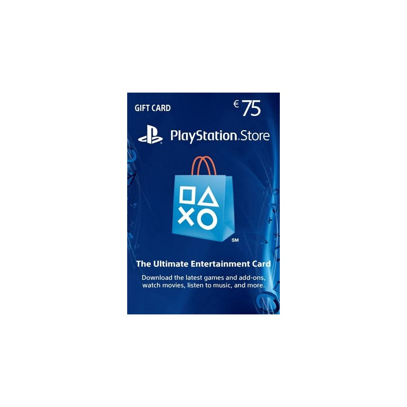 SONY PLAYSTATION NETWORK CARD 75 EURO DIGITAL DELIVERY