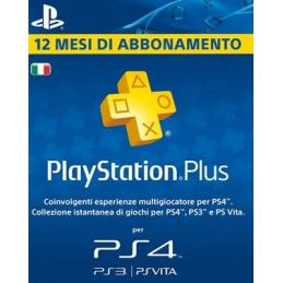 SONY PLAYSTATION PLUS CARD ABBONAMENTO 12 MESI DIGITAL DELIVERY