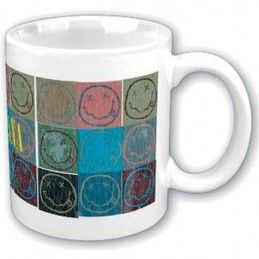 NIRVANA SMILEY COLLAGE MUG TAZZA CERAMICA