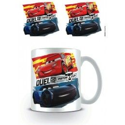 CARS DUEL FOR THE PISTON CUP CERAMIC MUG TAZZA IN CERAMICA PYRAMID INTERNATIONAL