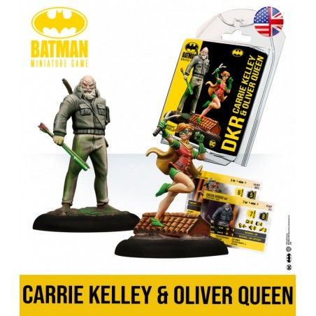 BATMAN MINIATURE GAME - OLIVER QUEEN AND CARRIE KELLY THE DARK KNIGHT RETURNS MINI RESIN STATUE FIGURE