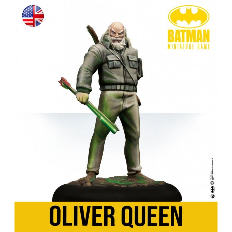 BATMAN MINIATURE GAME - OLIVER QUEEN AND CARRIE KELLY THE DARK KNIGHT RETURNS MINI RESIN STATUE FIGURE KNIGHT MODELS