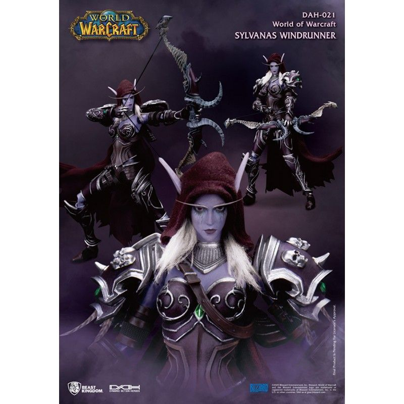 BEAST KINGDOM WORLD OF WARCRAFT - SYLVANAS WINDRUNNER DAH-021 ACTION FIGURE