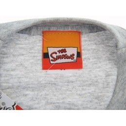 MAGLIA T SHIRT THE SIMPSONS DUFF BEER HOMER GRIGIA
