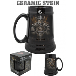 PYRAMID INTERNATIONAL SPIRAL VIKING WARRIOR CERAMIC STEIN BOCCALE IN CERAMICA