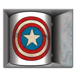 MARVEL CAPTAIN AMERICA COMICS SHIELD CERAMIC MUG TAZZA IN CERAMICA PYRAMID INTERNATIONAL