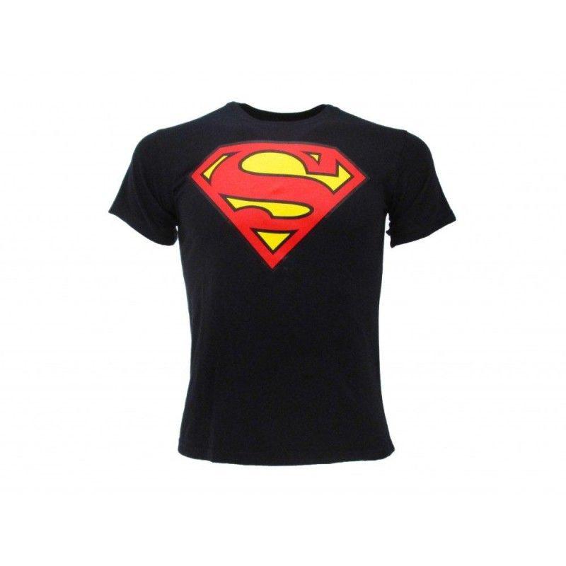 MAGLIA T SHIRT SUPERMAN LOGO BLU NAVY