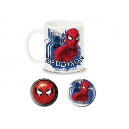 PYRAMID INTERNATIONAL MARVEL SPIDER-MAN HOMECOMING CERAMIC MUG AND PINS SET TAZZA E SPILLE
