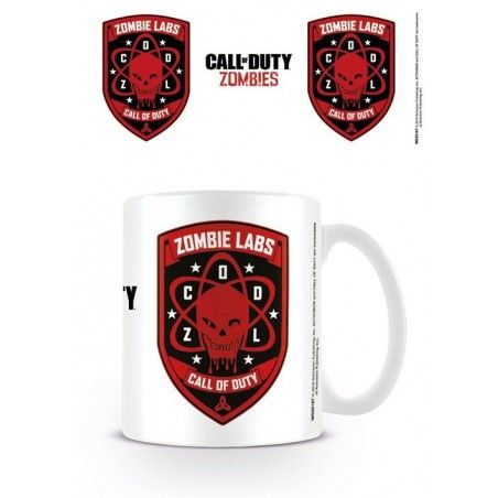 CALL OF DUTY ZOMBIE LABS CERAMIC MUG TAZZA CERAMICA