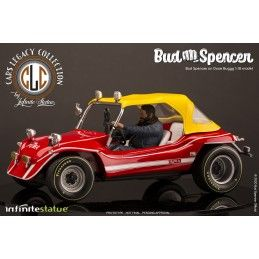 INFINITE STATUE BUD SPENCER ON DUNE BUGGY LIMITED 1/18 SCALE FIGURE REPLICA