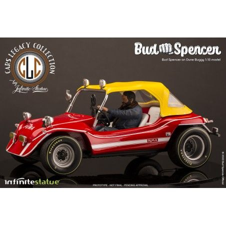 BUD SPENCER ON DUNE BUGGY LIMITED 1/18 SCALE FIGURE REPLICA