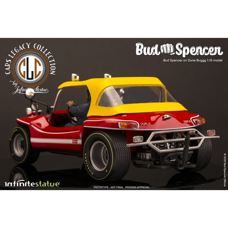 BUD SPENCER ON DUNE BUGGY LIMITED 1/18 SCALE FIGURE REPLICA INFINITE STATUE