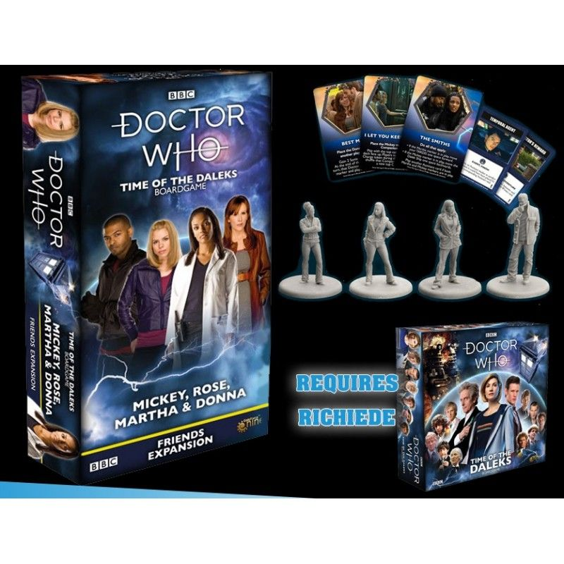 DOCTOR WHO TIME OF THE DALEKS FRIENDS EXPANSION 2 - GIOCO DA TAVOLO GALE FORCE NINE