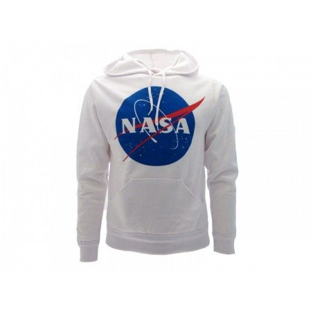 FELPA HOODIE NASA LOGO BIANCA