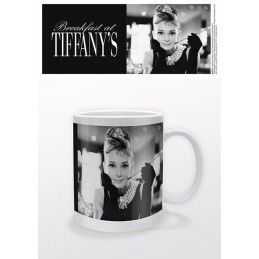PYRAMID INTERNATIONAL BREAKFAST AT TIFFANY AUDREY HEPBURN CERAMIC MUG TAZZA IN CERAMICA