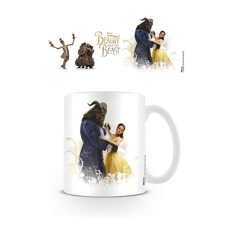 PYRAMID INTERNATIONAL DISNEY BEAUTY AND THE BEAST CERAMIC MUG TAZZA IN CERAMICA